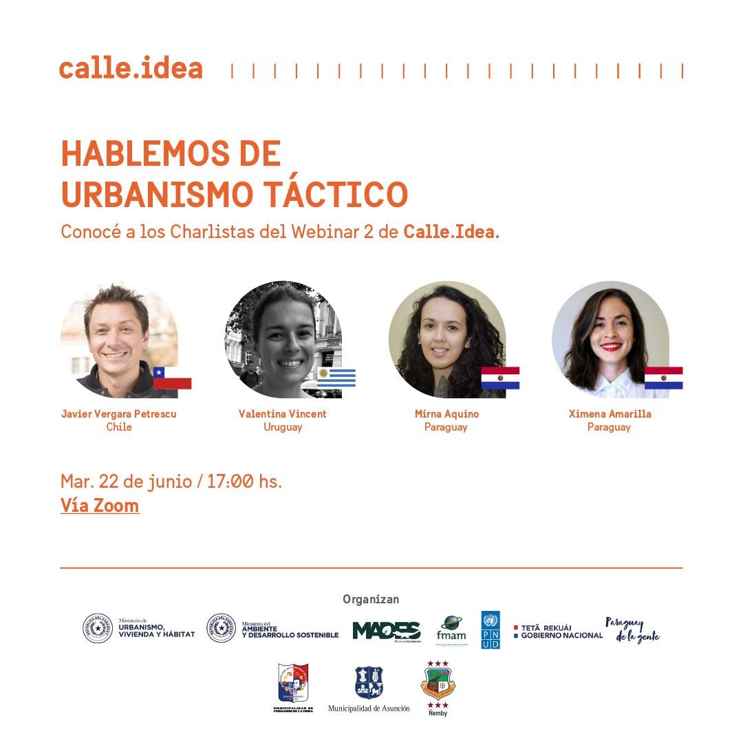MUVH invita a webinario sobre urbanismo táctico con expertos internacionales, en el marco del concurso Calle.Idea